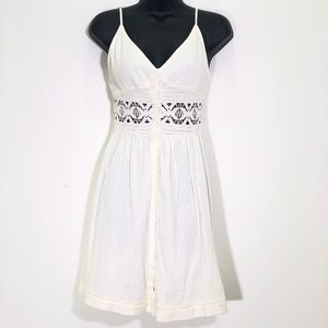 Topshop Sun Dress with Lace Cutouts NWT